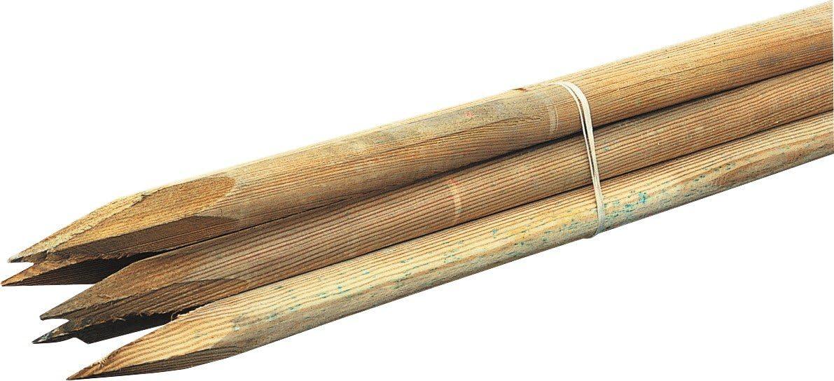Baumpfahl 2 , 7x120cm Rundholz: Amazon.es: Hogar