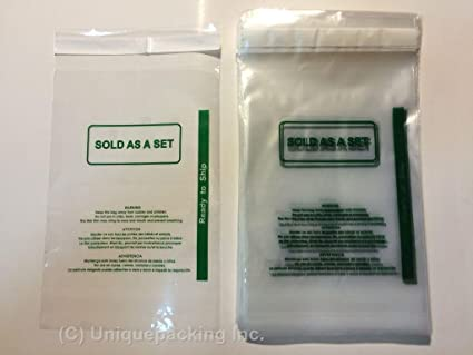 100 Pcs 11x14 (PS) Permanent Self Seal Poly Bags with Suffocation Warning - Sold As a Set - Ready to Ship label printed - FBA Bags
