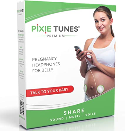 Pixie Tunes Syst/ème denceintes Baby Bump pour jouer du son de la musique et parler avec votre b/éb/é dans le ventre de votre b/éb/é depuis nimporte quel t/él/éphone portable vert