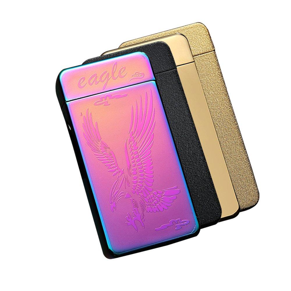 Sunshine USB Lighter Dual Arcs Flameless Windproof Wider Arcs Plasma Beam Dual Arc Lighter USB cable included (Rainbow Eagle) by Sunshine (Image #9)