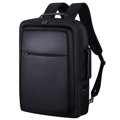Lalagen ビジネスバッグ ブリーフケース ビジネスリュック メンズ 大人の通勤鞄 マチ拡張 USBポット