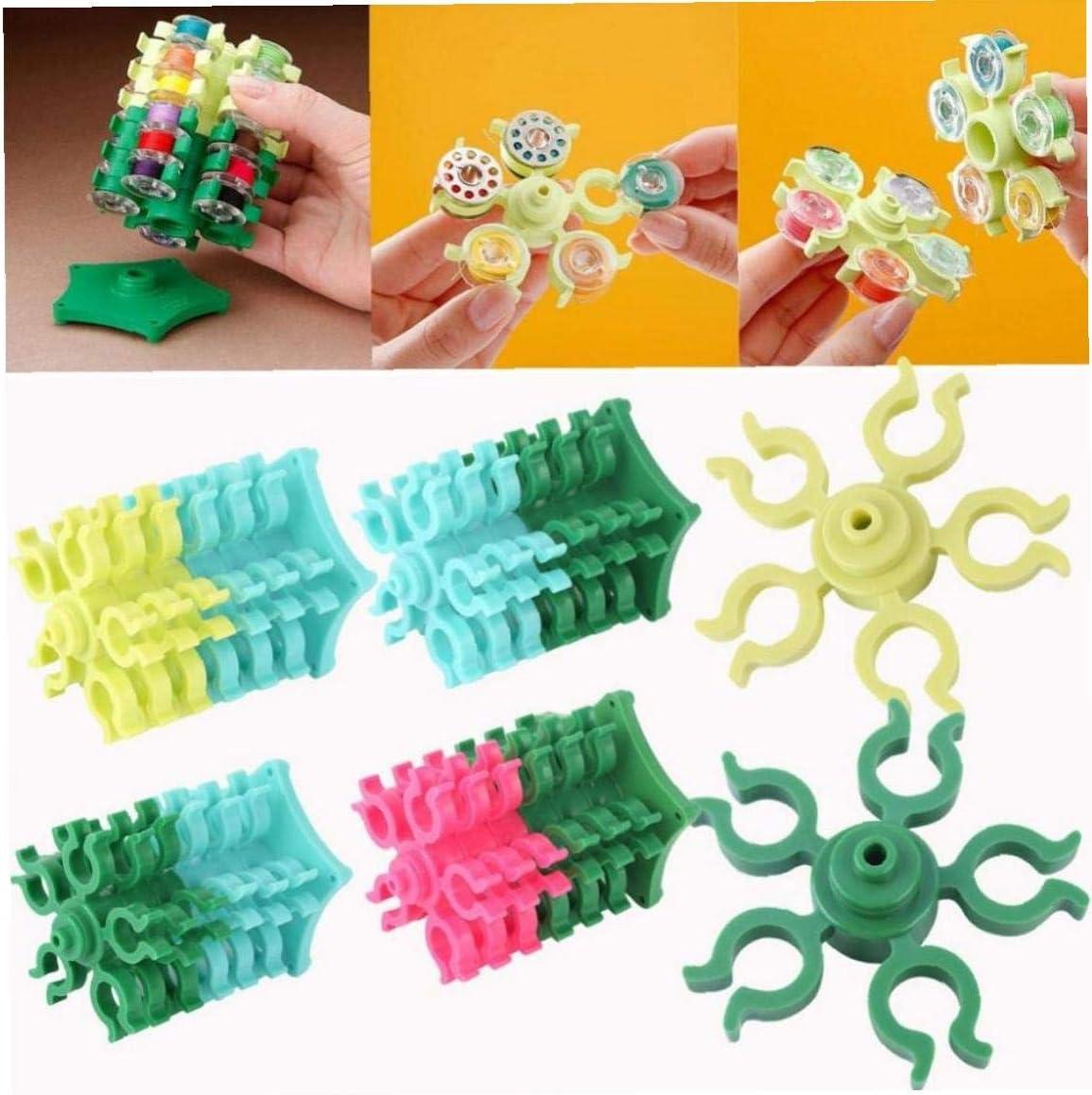 Angoter Multifunktions-N/ähgarn Spulenhalter Clamp Clips Spalte Bobbin Buddies Sticken Bobbin Sewing Funktionen Zubeh/ör