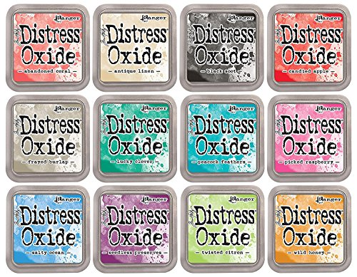 Tim Holtz Distress Oxide Ink Bundle June 2017 Release 2 Includes 12 Ink Pads -