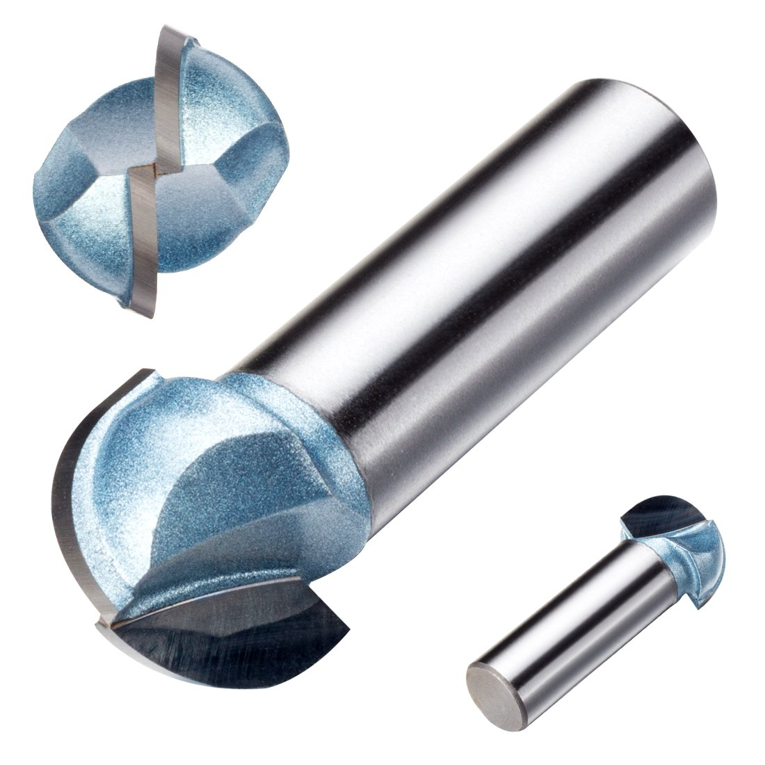 uxcell 3/4-inch Cutting Dia, 1/2-inch Steel Shank 2-Flute, Carbide Tipped Cove Core Box Router Bit