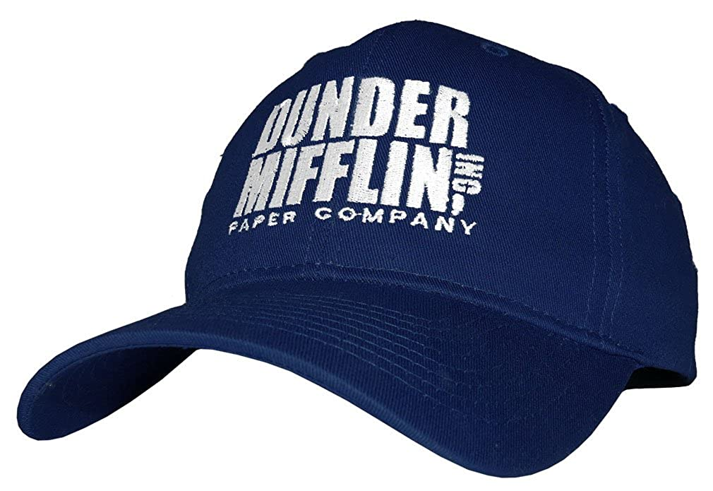b511f528 DUNDER MIFFLIN PAPER COMPANY INC - Embroidered Cotton Twill Baseball Cap  Hat (Black) at Amazon Men's Clothing store: