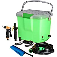 SHOPPOWORLD High Pressure Portable Car Washer With Electric clean Spray Gun, High Pressure water Pump, Brush, Storage Box, High Pressure Wand Perfect for Washing vehicle, Cars(Multi color)