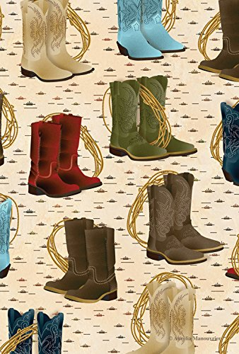 (Toland Home Garden Country Boots 12.5 x 18 Inch Decorative Southwest Farm Boot Rodeo Lasso Garden Flag)
