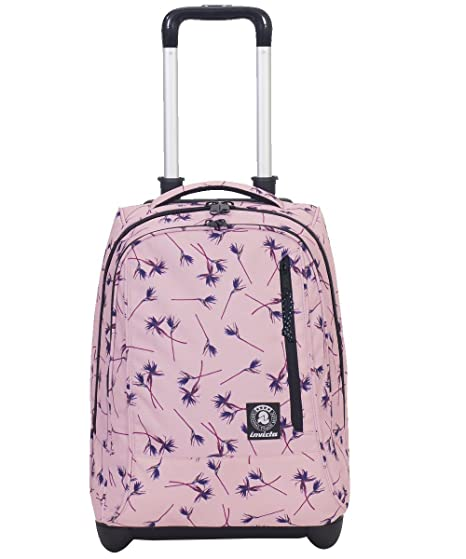 selezione premium 18f13 00288 TROLLEY INVICTA - TINDY - Pink Paradise Rosa fantasia - 36 LT spallacci a  scomparsa! Uso Zaino Scuola e viaggio