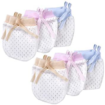 d415bdb68428 Amazon.com  Cunina 6-Pair Infants No Scratch Mittens and Baby Gloves ...