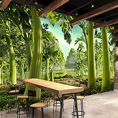 Fondos Murales En 3D Pintados A Mano Apio Verde Bosque Restaurante Supermercado Sala De Estar Fondos Papel Tapiz Impermeable: Amazon.es: Bricolaje y herramientas