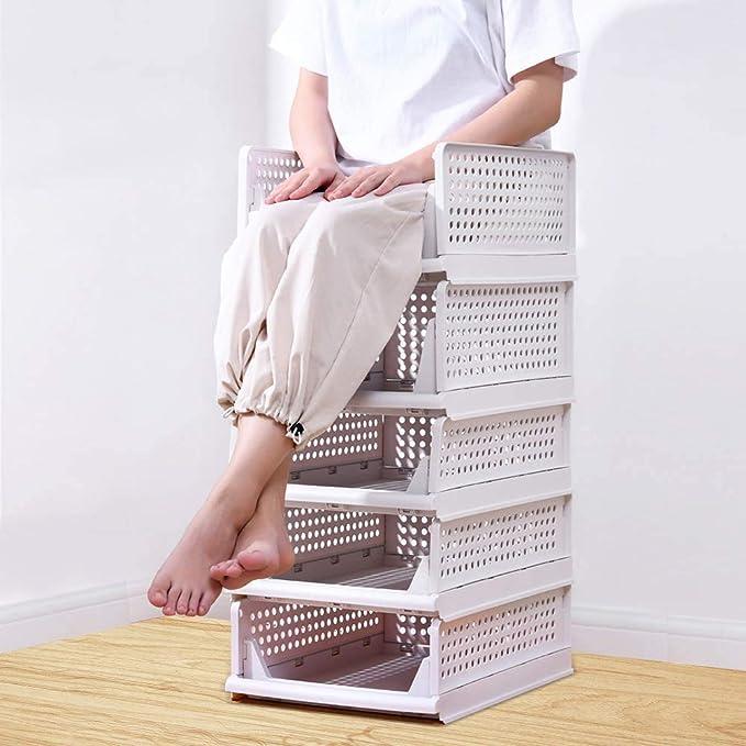 yazi 衣装ケース 引き出し クローゼット用 折り畳み 衣装収納ブックス 3個セット 積み重ね可能 タンスの中 大容量 洋服収納ボックス 通気性良く プラスチック キッチン収納ケース 超安定設計