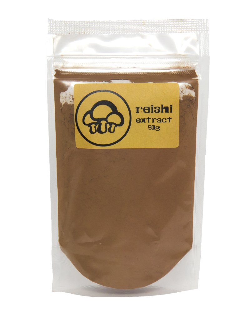 Reishi Mushroom Extract Powder by Appropriated Cultures – Dual-Extract, Organic, Fruiting Body Reishi Extract Powder – 50g bulk powder