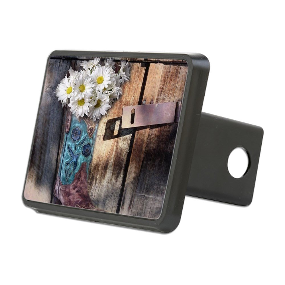 CafePress - Rustic Western Country Cow - Trailer Hitch Cover, Truck Receiver Hitch Plug Insert by CafePress