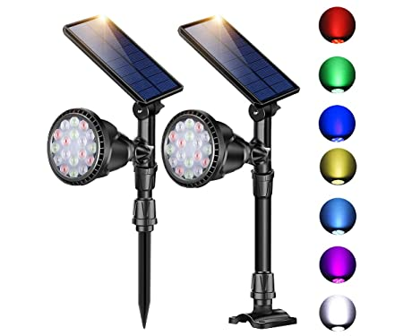 ROSHWEY Outdoor Solar Spot Lights
