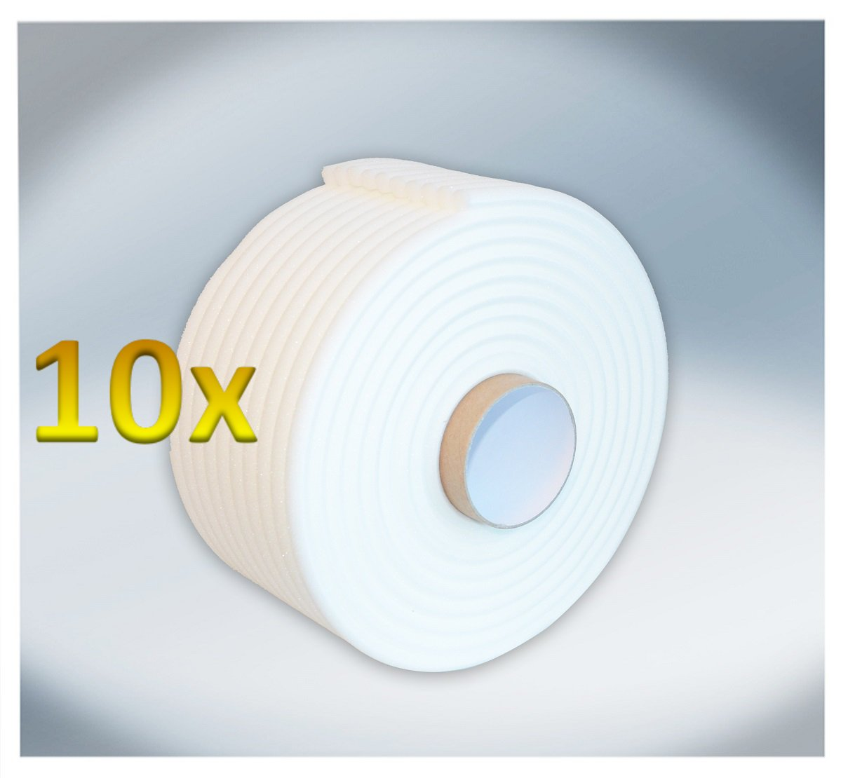 Softtape Foamtape 13mm x 50m fü r Autolack Lackierer Schaumdichtband (5 stucke) (301-5) BenBow