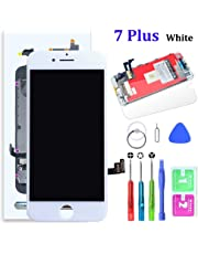 SZRSTH Compatible with iPhone 7 Plus Screen Replacement White 5.5 Inch LCD Display with 3D Touch Screen Digitizer Frame Full Assembly Include Full Free Repair Tools Kit+Instruction+Screen Protector