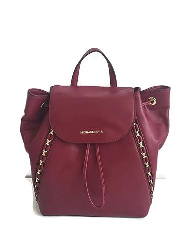 e117292cd8727d Amazon.com: MICHAEL Michael Kors Sadie Medium Leather Backpack Bag ...