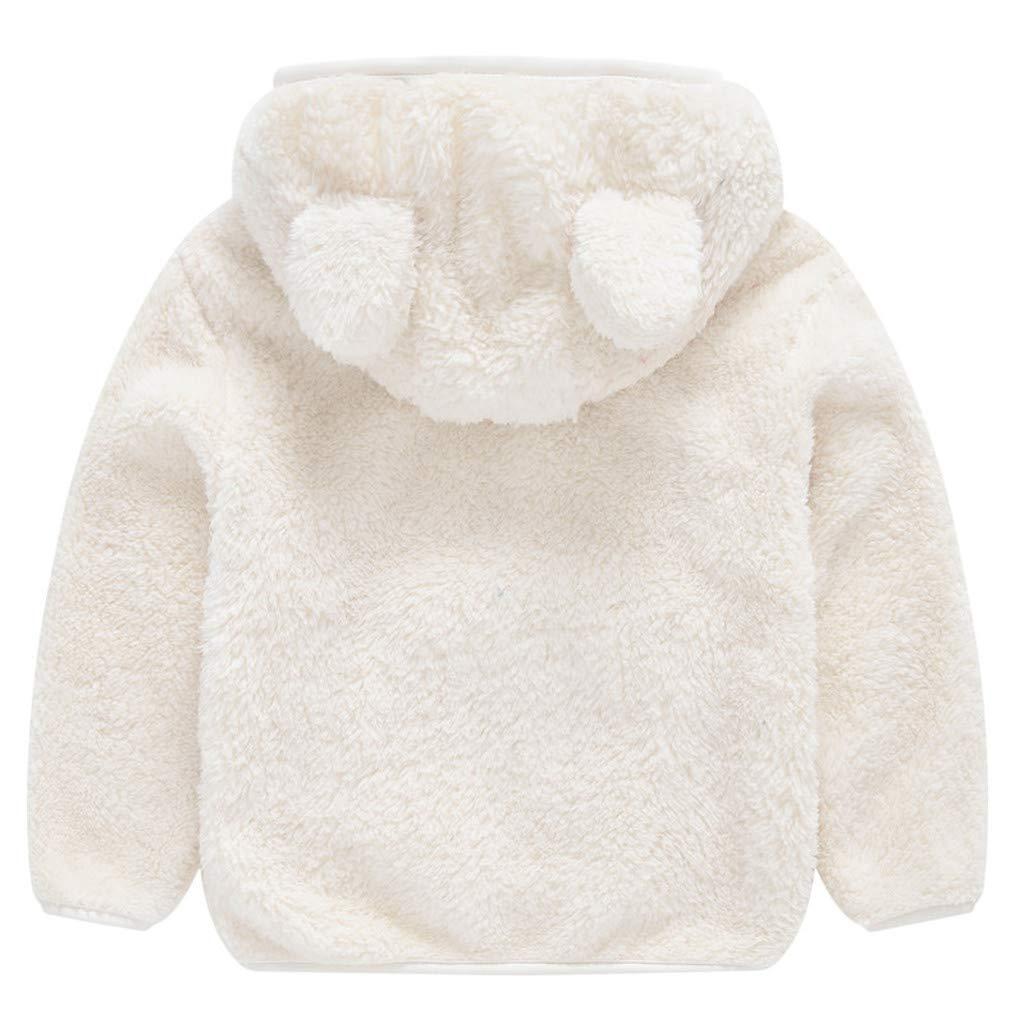 Baby Mantel Kinder Baby M/ädchen Herbst Winter Mit Kapuze Mantel Einfarbig Pl/üsch Jacke Starke Pwtchenty Warme Kapuzenjacke Baby Kapuzenmantel Baumwollkleidung Kleidung B/äRenohren