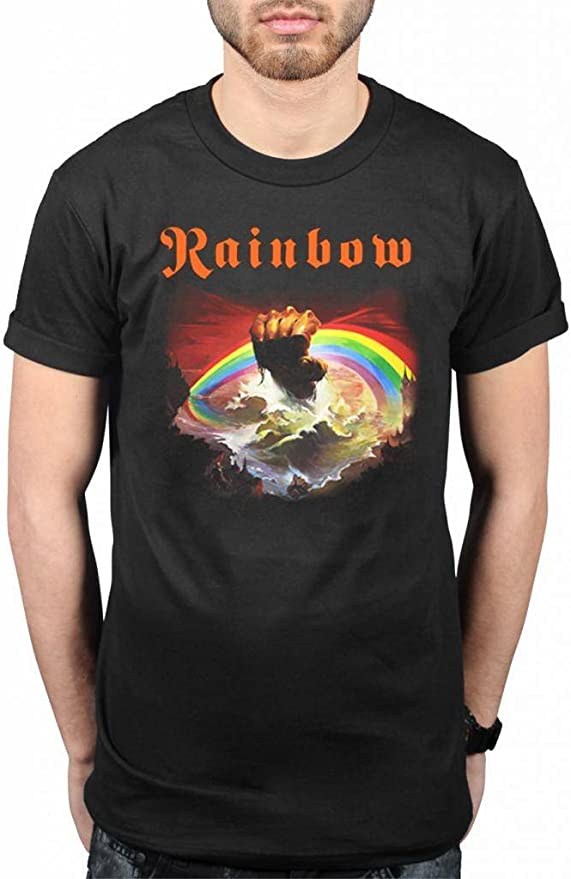Official Rainbow Rising T-Shirt Rock Band Heavy Metal Album On Stage: Amazon.es: Ropa y accesorios