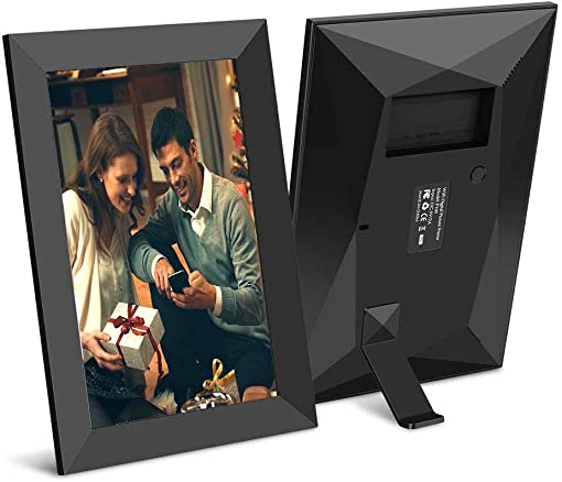 Scishion 10.1 Inch 16GB WiFi Digital Photo Frame with HD IPS Display Touch Screen – Share Moments Instantly via Frameo App from Anywhere