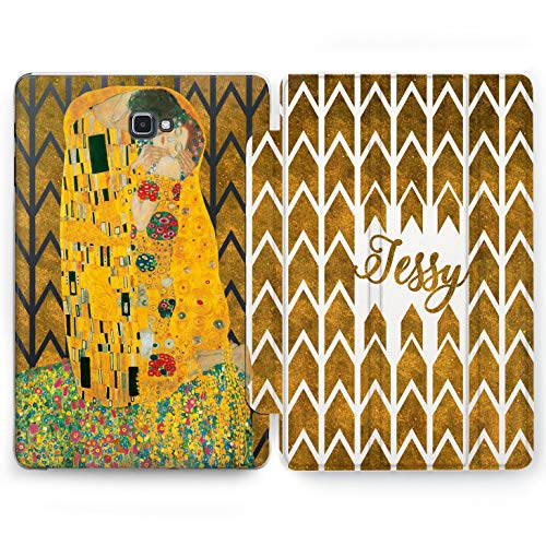 Wonder Wild He & She Samsung Galaxy Tab S4 S2 S3 A E Smart Stand Case 2015 2016 2017 2018 Tablet Cover 8 9.6 9.7 10 10.1 10.5 Inch Clear Design Skin Texture in Love Your Text Pattern Orange Colorful -