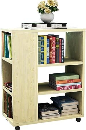 ZHAS Estantería Librería de Madera - Móvil - La Mesa Auxiliar del sofá de la Sala de Estar - 29 * 55 * 70 cm - 6 Colores (Color: C): Amazon.es: Hogar