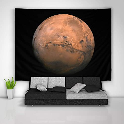 unbrand Mars Planet Tapestry Tapestry Art Wall Hanging Sofa Table Bed Cover Mural Beach Blanket Home Dorm Room Decor Gift