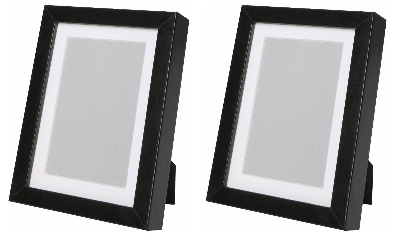 ikea ribba 5x7 picture frame black set of 2 ebay. Black Bedroom Furniture Sets. Home Design Ideas