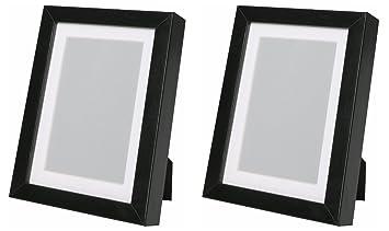 Amazonde Ikea RIBBA 5 X 7 Bilderrahmen Schwarz Set Von 2