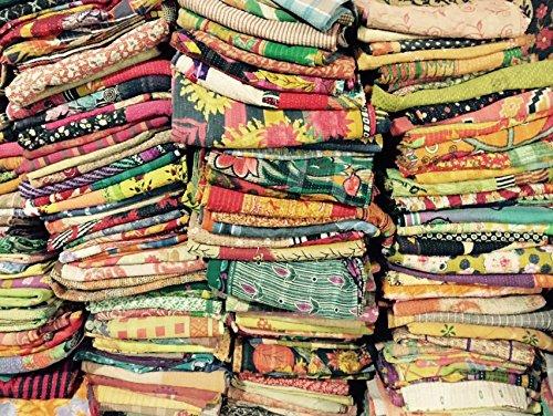 Fantastic Deal! 10 Pcs Lot of indian tribal kantha quilt Vintage Cotton Bed cover Wholesale balnket