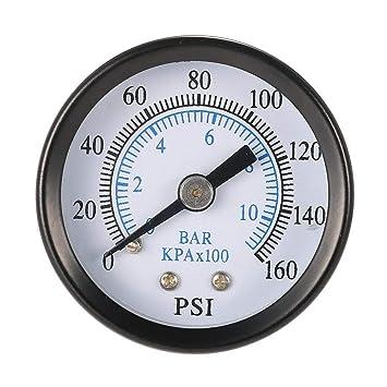 Hemobllo 0-160 PSI 0-10 Barra NPT Manómetro de compresor de Aire de