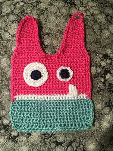 Amazon Monster Bib Crochet Bib Pink And Teal Handmade