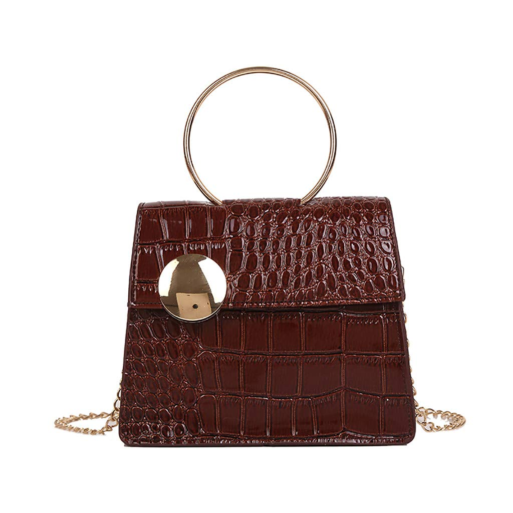 Women Stone Pattern Messenger Bag Fashion Patent Leather Chain BagHandbags&Clutches&Evening Bags