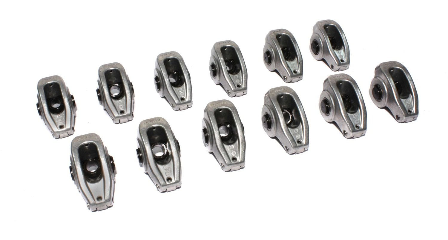 COMP Cams 17043-12 High Energy Die Cast Aluminum Roller Rocker Arm with 1.6 Ratio and 3/8'' Stud Diameter for Small Block Ford, (Set of 12) by Comp Cams