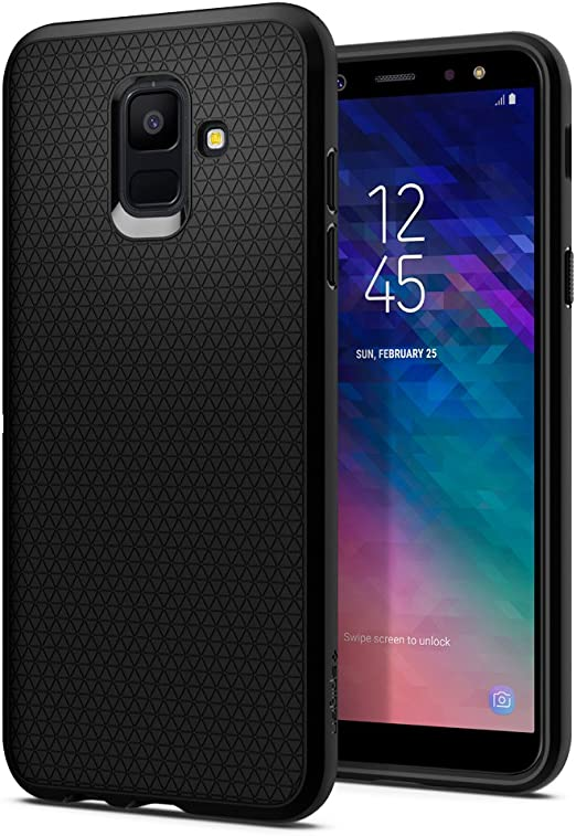 Spigen Funda Liquid Air Compatible con Samsung Galaxy A6 2018, Flexión Duradero y Diseño de Fácil Agarre - Negro Mate: Amazon.es: Electrónica