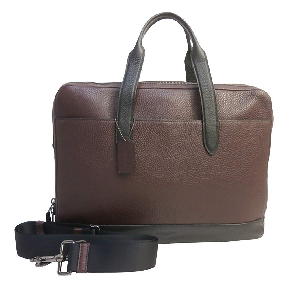 Coach Mens Leather Laptop Overnight Computer Bag Brown/Black