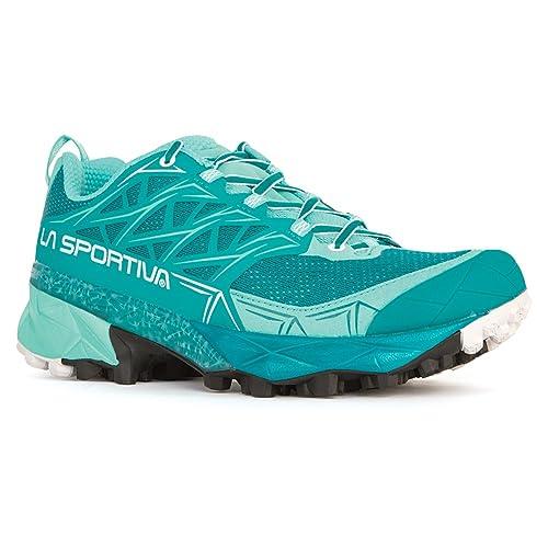 La Sportiva Women's Akyra Mountain Running Shoe, Emerald/Mint, ...