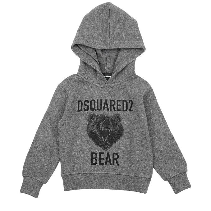 Dsquared2 Felpa con Cappuccio Bambino Kids Boy MOD. DQ02VS 6A  Amazon.it   Abbigliamento dd58b2b97fdb