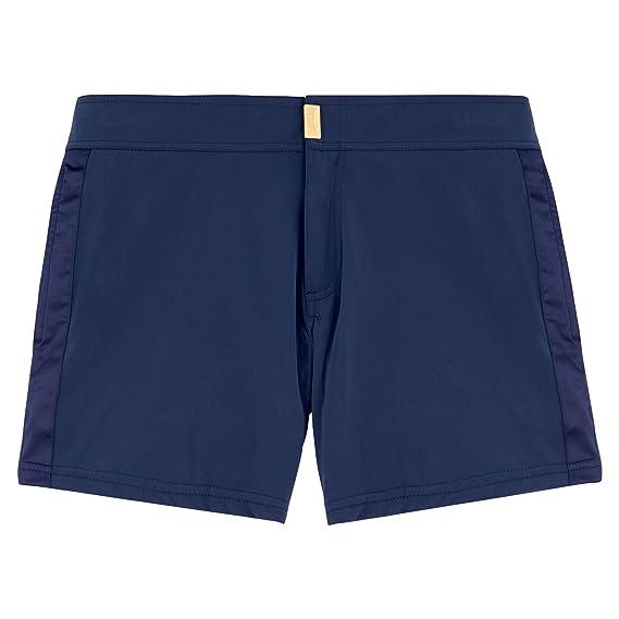 b537a66edaf0c Vilebrequin Smoking Tuxedo Fitted Swim Shorts - Men: Amazon.co.uk ...