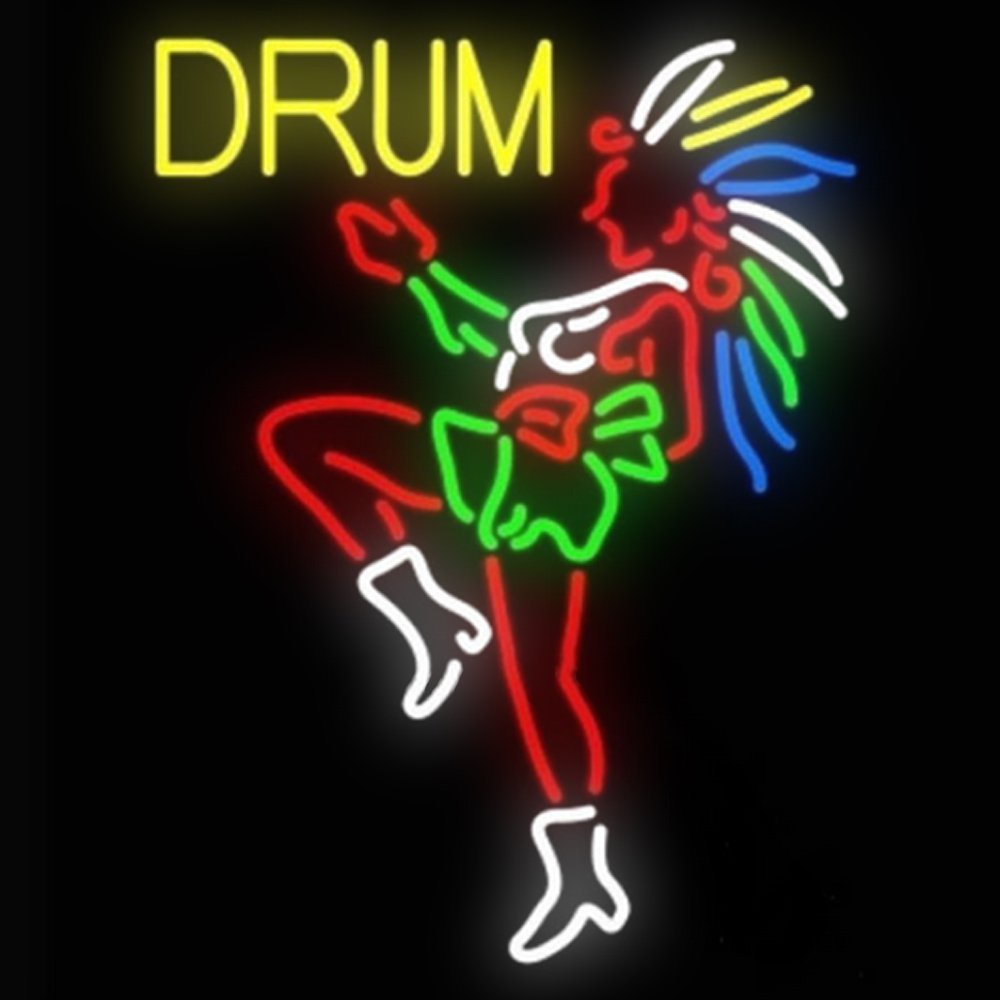 Urby™ 24''x20'' D rum Girl Custom Neon Light Sign Beer Bar Sign 3-Year Warranty-Excellent Handicraft! SP139
