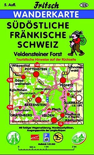 Südöstliche Fränkische Schweiz: Veldensteiner Forst (Fritsch Wanderkarten 1:40000)