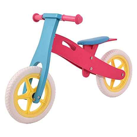 Wooden Balance Bike No Pedal Adjustable Seat Classic