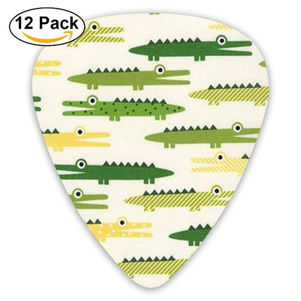 Crocodile Alligator Animal Celluloid Guitar Picks 12 Packs: Amazon ...