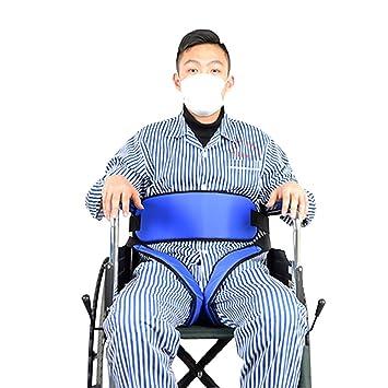 QETU Cinturón de Seguridad para Silla de Ruedas - Cofre de arneses de Seguridad Arnés para Silla Correa Ajustable para Pacientes Atención a Personas Mayores ...