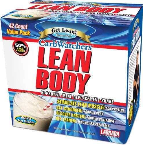 Labrada Carb Watchers Lean Body glace à la vanille paquets 2.29oz (pack de 42)