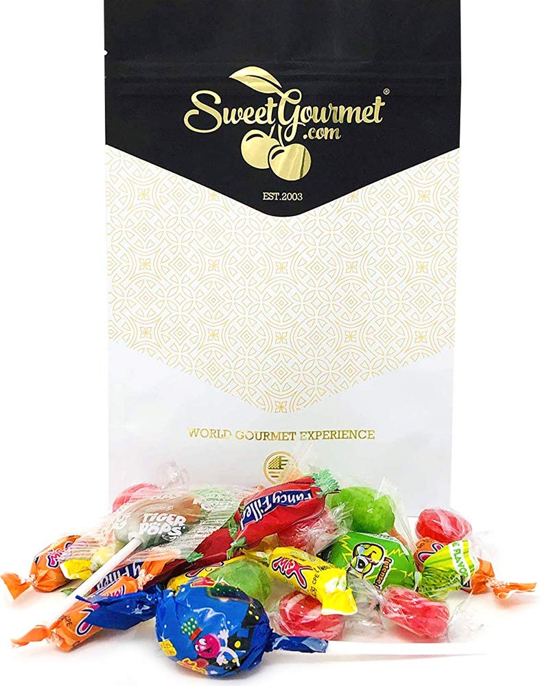 SweetGourmet Fun Mix Candy | Lollipops | Hard Candies | Filled Candies | Bubble Gum Pops | Chewy...