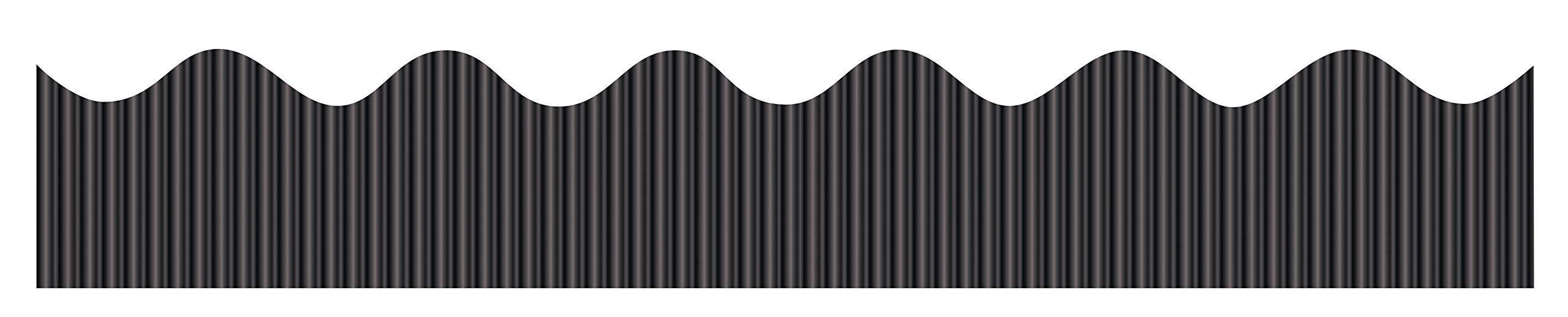 "Bordette Decorative Border, 2-1/4"" x 25', Metallic Black, 1 Roll"