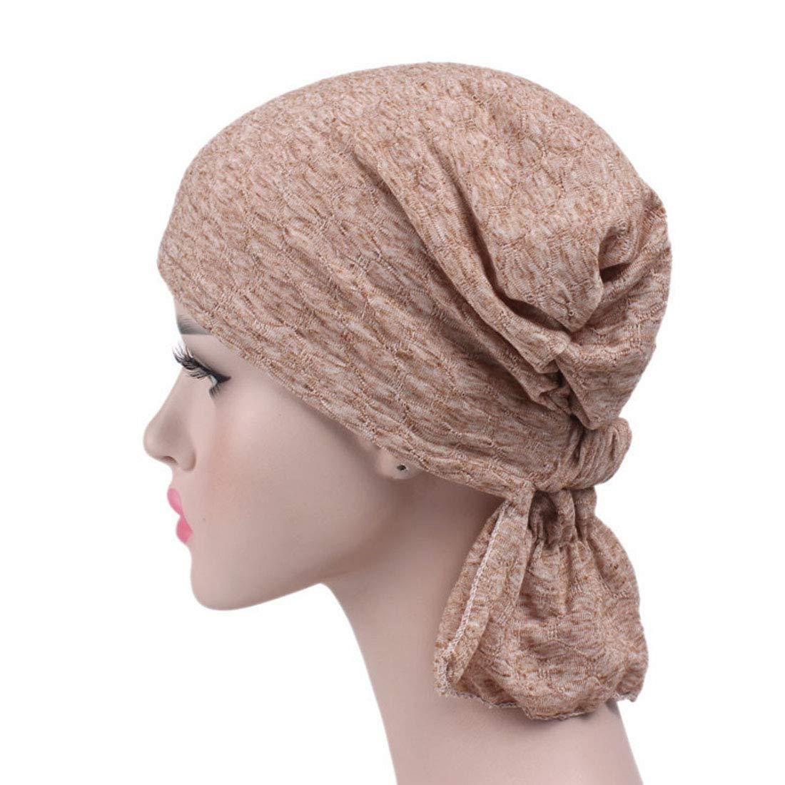 YONKINY Cappello Turbante da Donna Copricapo Turbante in Cotone Traspirante Copricapo Chemo Cuffia da notte Headwear Turbante per chemioterapia