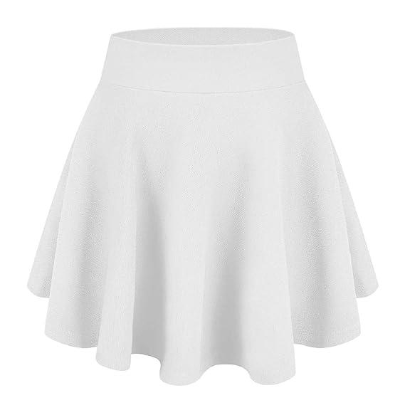 Tuopuda Falda Mujer Elástica Plisada Falda Mini Corto Elástica ...