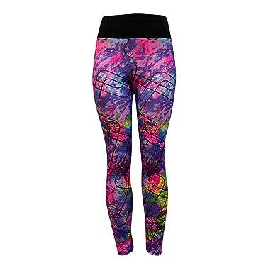 OHQ Pantalon De Yoga❤️Pantalon De Yoga Imprimé Multicolore Leggings D EntraîNement  D  de8d0091dd0